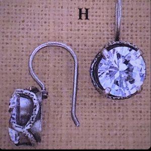 RARE Silpada Center Stage Cubic Zirconia Earrings